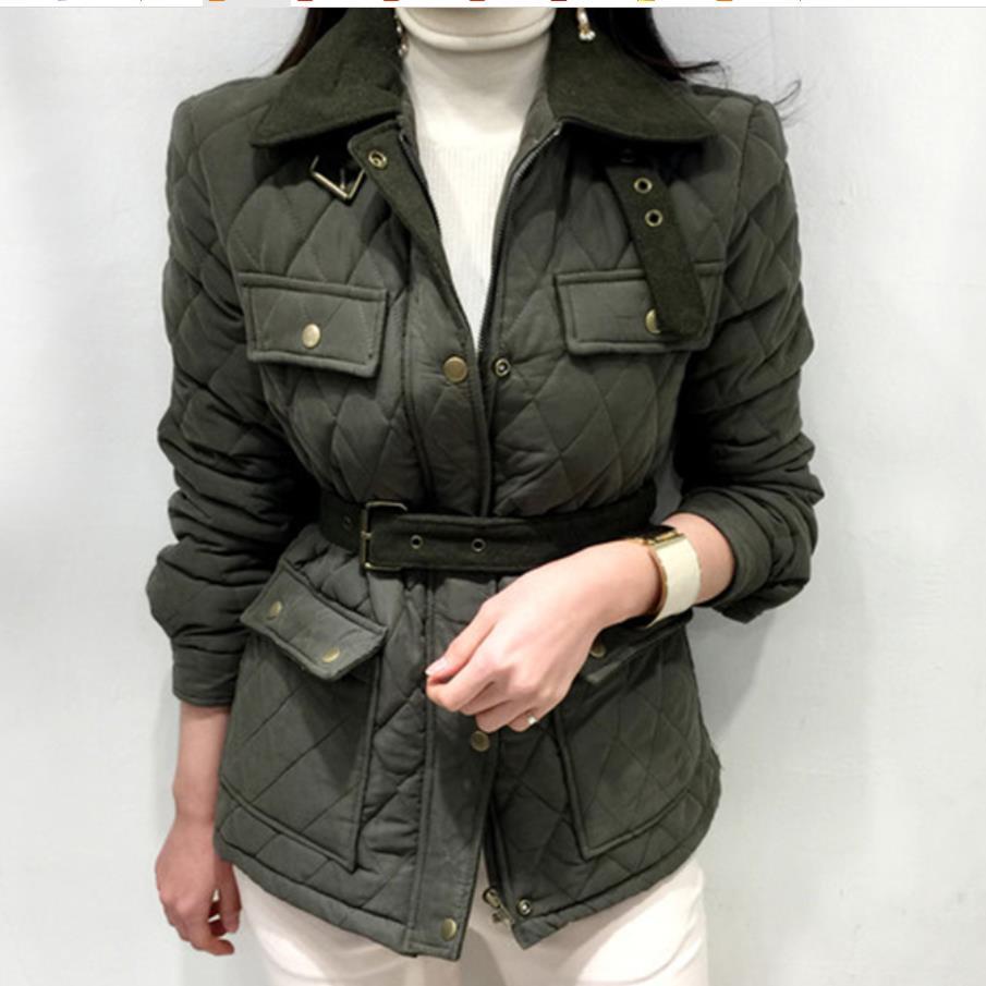 Cotton-padded Jacket Female New Fashion Thickening Warm Cotton   Parka   Short Jacket Autumn Winter Women