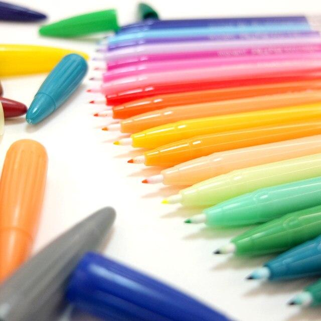 24 Color Gel Pens Monami Plus Pen Korean Stationery Canetas Papelaria Z Gift Office Material Escolar School Supplies 6261