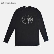 Calvin Klein Jeans / CK 2017 New Fashion Men Clothes Solid Color Long Sleeve Slim Fit T Shirt Men's Cotton Casual T-Shirt