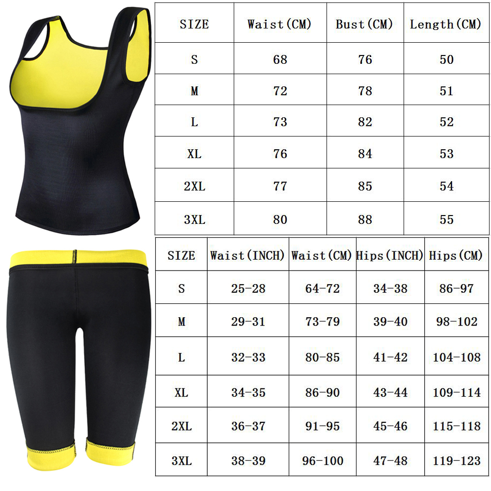 Image 5 - (Vest+Belt+Pant) Neoprene Body Shaper Women's waist trainer Slimming Pants Vest Super Stretch Super Lose Weight control pant