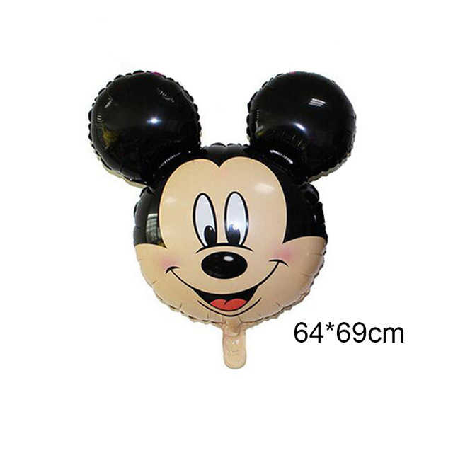 Mickey Minnie Birthday Balloons Party Baby Shower Happy Decoration One Year Old Latex Foil