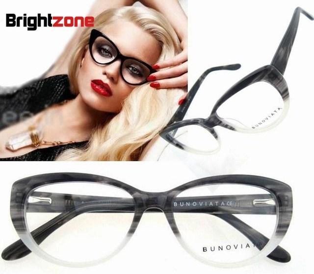 Бесплатная Доставка Мода High End Кошачий Глаз Ацетат Очки По Рецепту очки Кадр Óculos де грау Femininos B5002 CE FDA