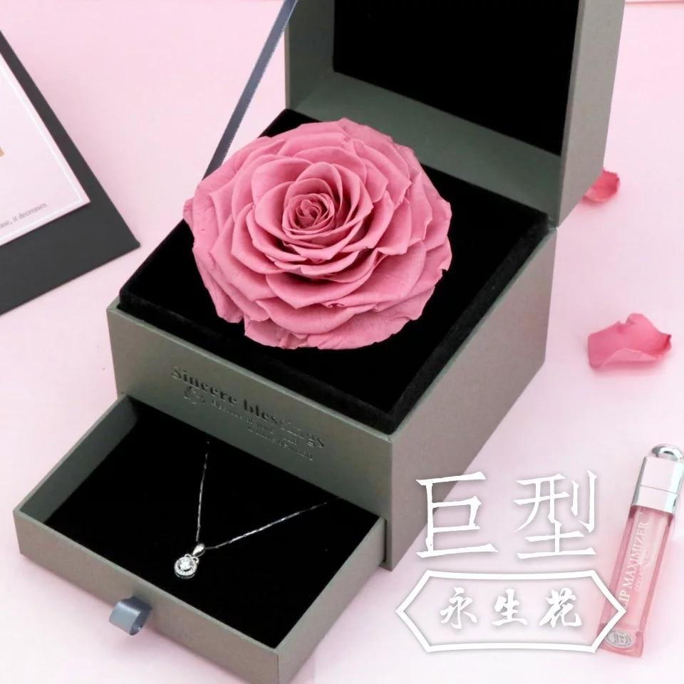 Nouveau produit dames cadeau d'anniversaire fête des mères meilleur cadeau mon seul et unique amour Super grande fleur de savon 925 collier de mode en argent