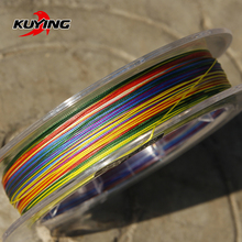 KUYING Rainbow 100m 150m Super Power 8 Braid Weaves PE Fishing Line Colorful Braided Wire Cord Rope Thread String