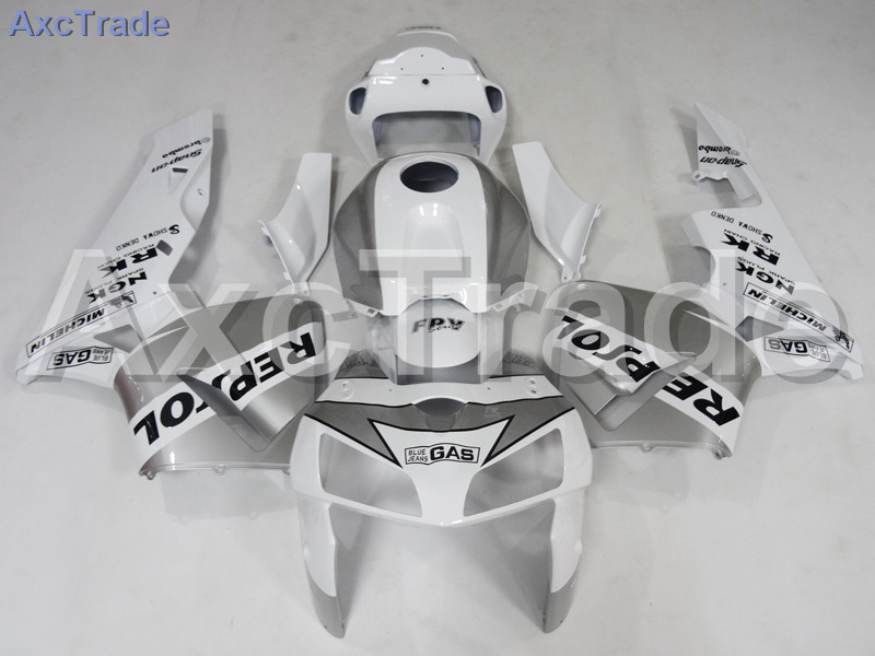 Motorcycle Fairings Kits For Honda CBR600RR CBR600 CBR 600 RR 2005 2006 F5 ABS Plastic Injection Fairing Kit Bodywork White A598 abs injection fairings kit for honda 600 rr f5 fairing set 07 08 cbr600rr cbr 600rr 2007 2008 castrol motorcycle bodywork part
