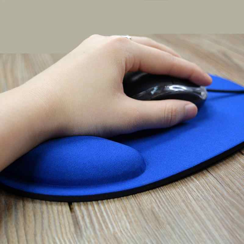 Hot Selling Professional Mouse Pad Wrist Protect Thicken Silicone Computer Mice Pad Anti-slip  Soft Hand Rest Comfort Mousepad
