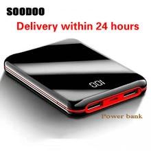 SOODOO 30000 мАч Внешний аккумулятор внешний аккумулятор 2 USB светодиодный внешний аккумулятор портативный мобильный телефон зарядное устройство для Xiaomi Mi Iphone 8 X
