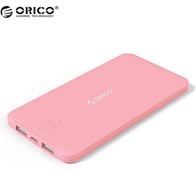 ORICO D5000 Мобильные аккумуляторы 5000 мАч scharge полимера Мобильные аккумуляторы Мощность Батарея внешний Универсальный Зарядное устройство для мобильного телефона