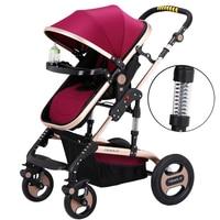 Lightweight Baby Stroller Newborn Pram Sit Lay Baby Carriage Umbrella Cart Fold Portable Traveling Stroller Can Take to Plane