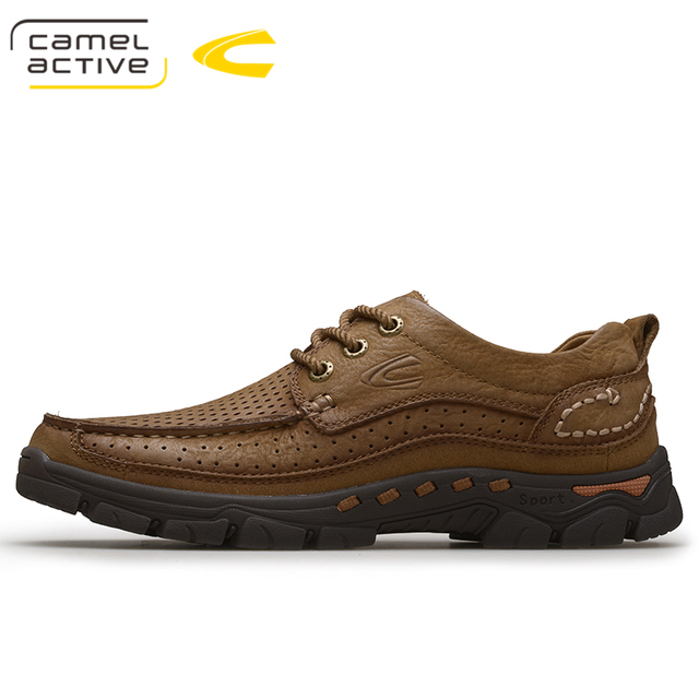 Camel Active Mens Casual Shoes 100% Genuine Leather Shoes High Quality  Comfort Outdoor Man Footwear