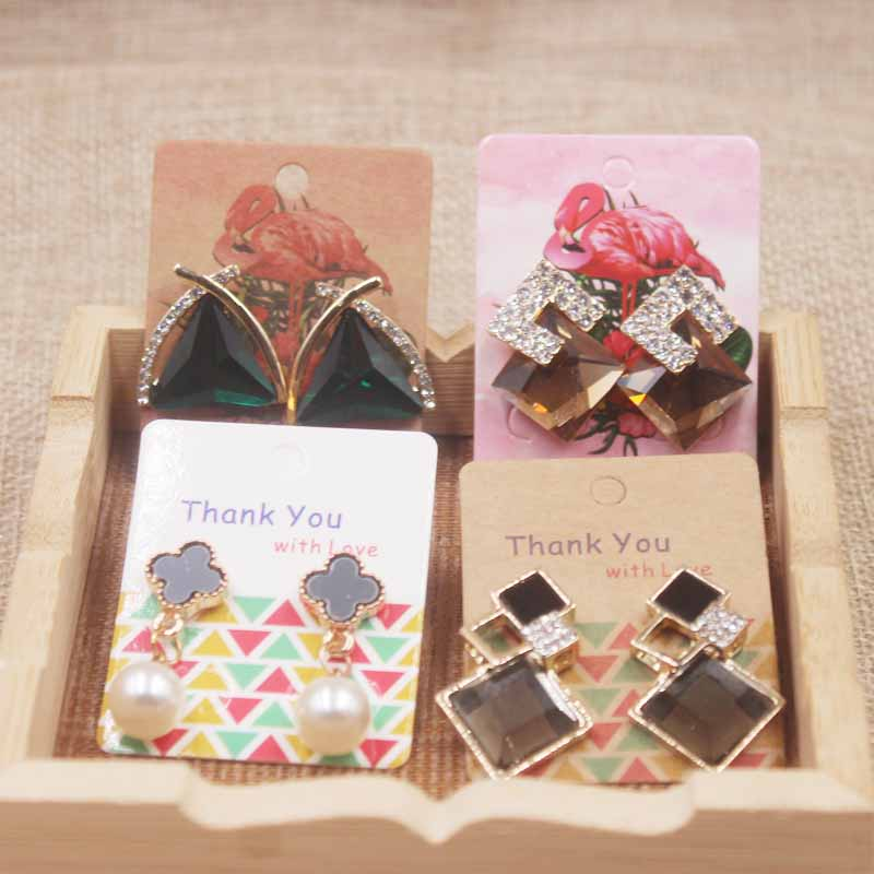 zerong multi style jewelry earring package card diy thank