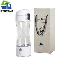Высокое качество генератор водорода воды модные белые бутылки щелочной воды здоровья человека водорода воды чайник 350 мл ионизатор воды