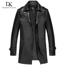 2016 Dusen Klein Genuine Leather jacket men Slim design Luxury male spring leather Coat sheepskin 14N628