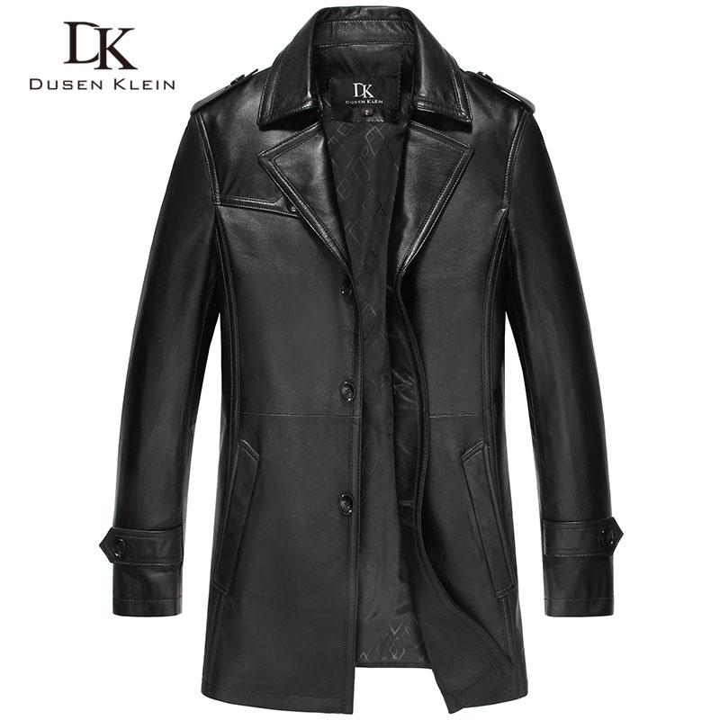 Dusen Klein férfi kabát Valódi báránybőr luxus középhosszú - Férfi ruházat