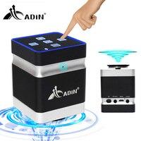 Adin 26W Portable Resonance Vibration Music Speaker Box Super Bass Vibro Wireless Bluetooth Handsfree Touch Speakers for Phone