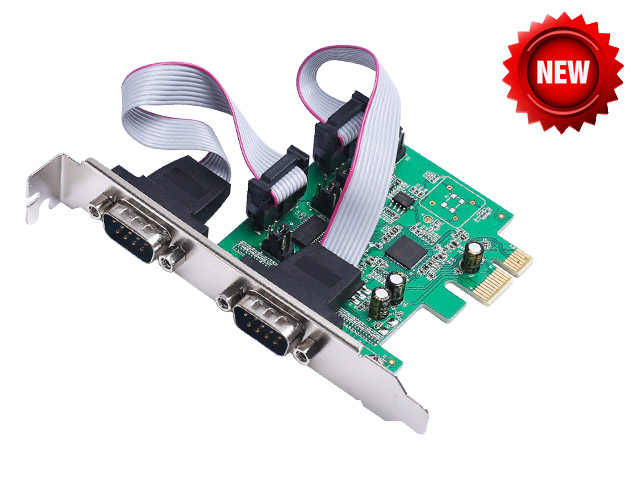 2 Port RS232 RS-232 Serial Port COM to PCI-E PCI Express Card Adapter Converter AX99100 Chipset iocrest io pce9922 2s mcs9922cv chipset 2 port db 9 serial rs 232 pci express controller card