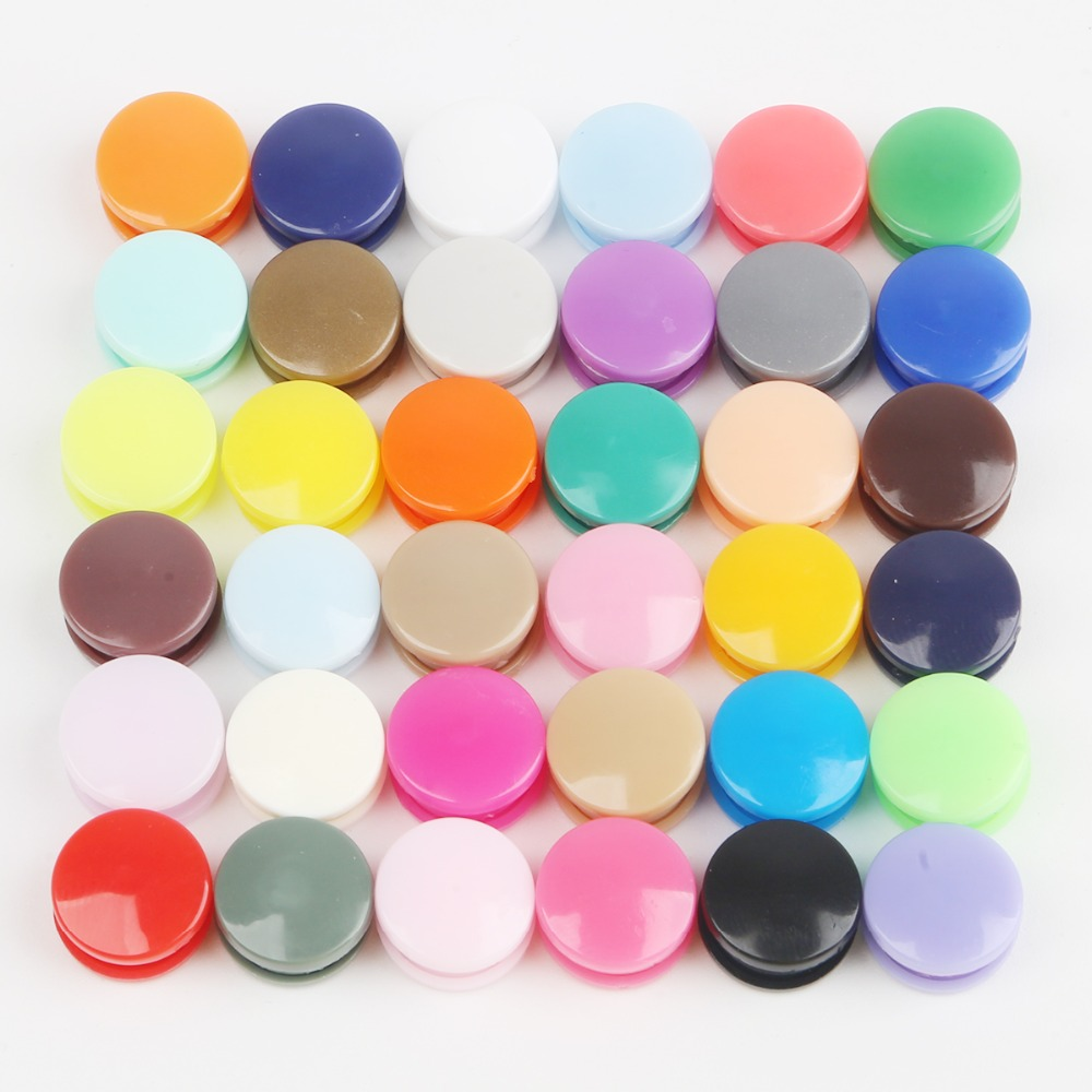 Round Plastic Snaps Button Fasteners Quilt Cover Sheet Button Garment Accessories For Baby Clothes Clips 20 Sets KAM T5 12MM