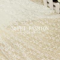 100x145 cm Net tela del cordón del estiramiento negro blanco belleza guipure texitle Metro material para ropa Tecido floral renda