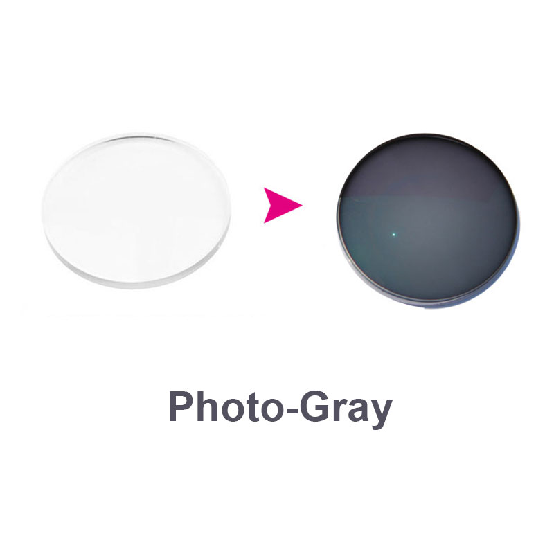 1,67 Lentes fotocrómicas-grises progresivo lentes de prescripción óptica lentes de miopía hiperopía