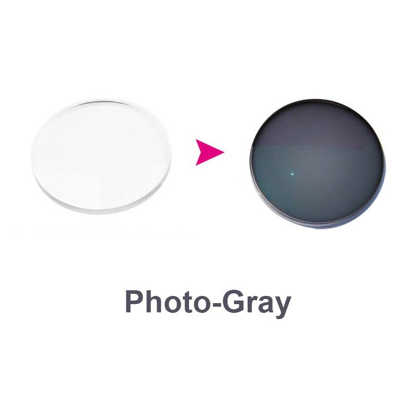 1.67 verres progressifs photochromiques gris verres de Prescription optiques lentilles d'hyperopie myopie