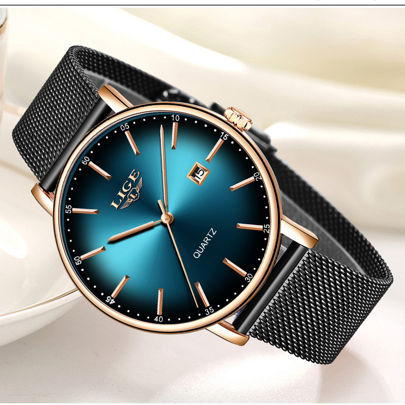 2020 Watch Women Simple Fashion LIGE Top Brand Quartz Watch Luxury Creative Waterproof Date Casual Ladies Watch Relogio Feminino