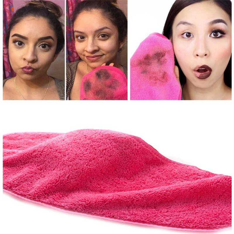 1PC Makeup Remover 40*18CM Microfiber Cloth Pads Remover Towel Face Cleansing Makeup