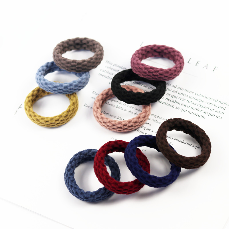 4Pc/lot Bold Without Seams Rubber Band Hair Ties/Rings/Ropes Gum Springs Ponytail Holders Hair Accessories Elastic Hair Band