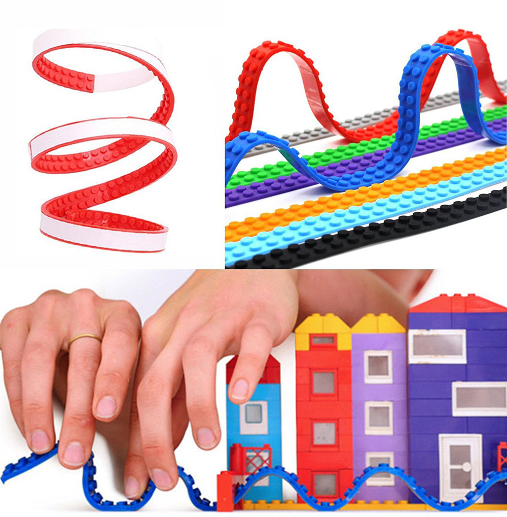 Compatible Tape Roll Loops Compatible Toy Building Block Self Adhesive Strips stress relief toys kawaii squishies anti stress