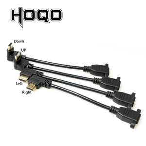 Image 5 - HDMI2.0 4K*2K Short Down UP Angle 90 Degree HDMI Male to Female Extension Cable HDMI panel mount with screw hole For PSP HDTV