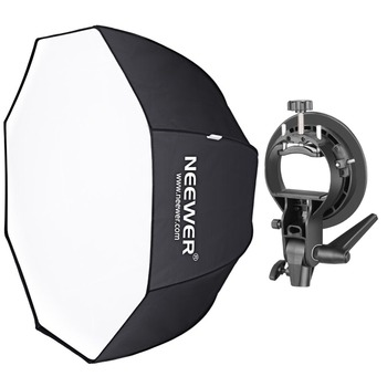 Neewer 48 inches/120cm Octagonal Softbox with S-Type Bracket Holder (with Bowens Mount) and Carrying Bag for Product Photography