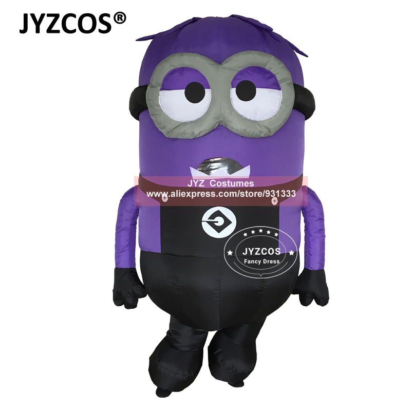 JYZCOS Inflatable Minion Halloween Costumes for Adult Despicable Me 2 Anime Cosplay Blow Up Mascot Purim Fancy Dress Cartoon (2)