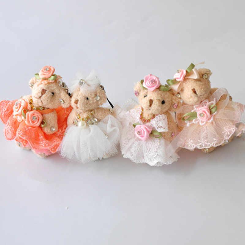 Dễ Thương Sang Trọng Lông Pompom Bông Búp Bê Móc Khóa Nữ Gấu Đồ Chơi Móc Khóa Nữ Túi Móc Chìa Khóa Ô Tô Thiền Trượng Tiệc Cưới Valentine quà Tặng