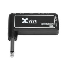 Lightweight Headphone Amp Portable Electric Guitar Amplifier Blend Tone Volume Controls Xvive GA-3 Classic Rock Guitar Micro Amp