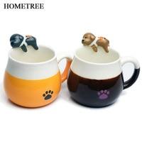 HHOMETREE New Creative 320 ml Mug Lovely Thời Trang 3D vẽ Tay Con Chó Con Vật Ly Cốc Cà Phê Chén Gốm Trang Trí quà tặng H317