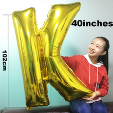 1 PCS High Quality 40 Inches Big Gold Helium Letter Balloon Birthday Party Supplies Room Decorations Adult Valentines Day