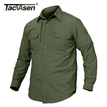 TACVASEN Mens Brand Tactical Airsoft Clothing Quick Drying Military Army Shirt Lightweight Long Sleeve Shirt Men Combat Shirts