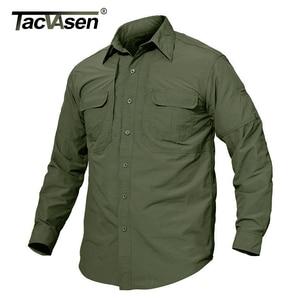 Image 1 - TACVASEN Mens Brand Tactical Airsoft Clothing Quick Drying Military Army Shirt Lightweight Long Sleeve Shirt Men Combat Shirts