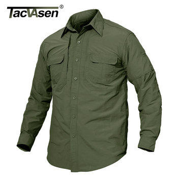 TACVASEN Men's Brand Tactical Airsoft Clothing Quick Drying Military Army Shirt Lightweight Long Sleeve Shirt Men Combat Shirts