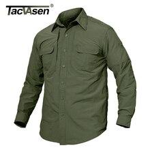 TACVASEN Мужская брендовая тактическая страйкбольная одежда быстросохнущая Военная армейская рубашка легкая мужская рубашка с длинным рукавом