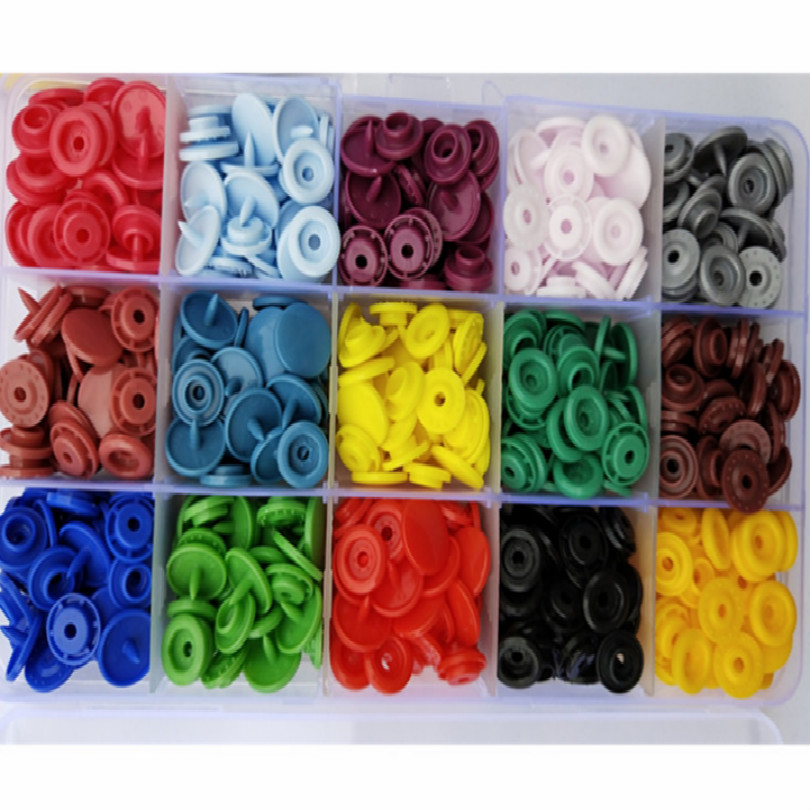 T5 resin buttons 12MM snap button plastic snaps plastico snap fastener 36COLORS 1000set lot free shipping in Buttons from Home Garden