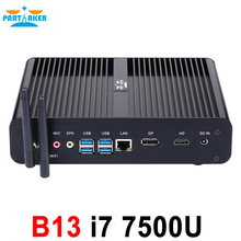 B13 Mini PC with 7th Gen Kaby Lake Intel Core i7 7500U Winows 10 DDR3L Linux Ubuntu Barebone Fanless Mini PC 4K HTPC Computer