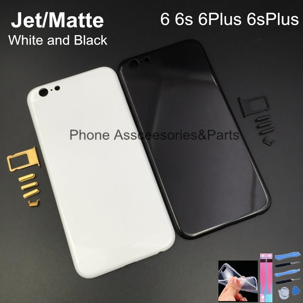 free shipping 3e8b5 51e2c US $33.43 |Matte White Housing For Iphone 6 6s Housing Jet Black White  Metal Back Cover Chassis Frame For Iphone 6 6s Plus Glossy Jet White on ...
