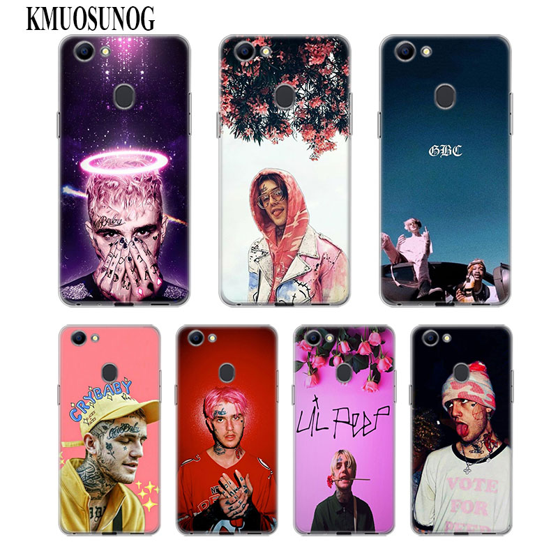 Transparent Soft Silicone Phone Case XxxTentacion Lil Peep Lil Bo Peep for OPPO F5 F7 F9 A5 A7 R9S R15 R17 Cover in Fitted Cases from Cellphones Telecommunications
