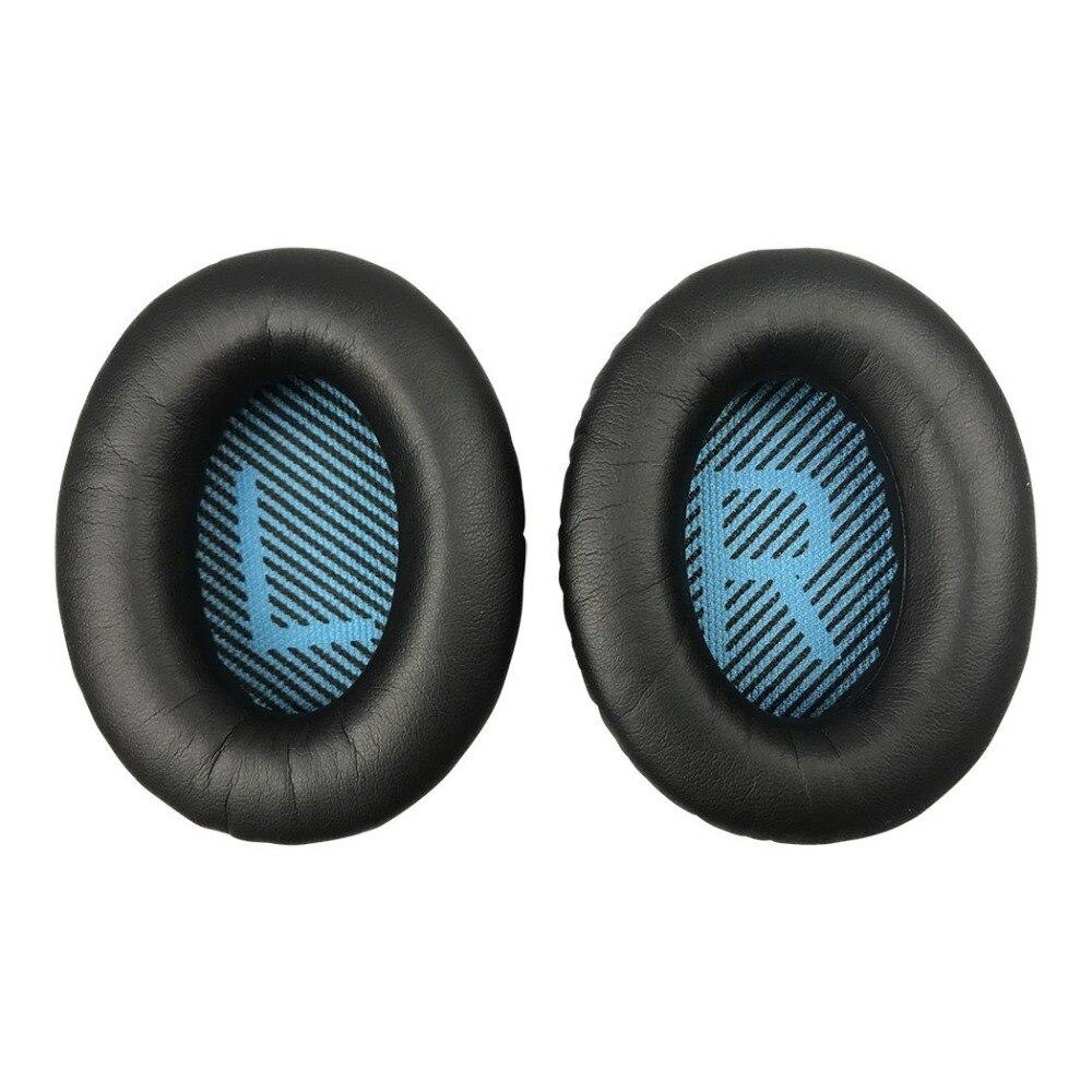 цена на 1 Pair Black White Grey Coffee Khaki Replacement Soft Foam Sponge Headphone Ear Pad Cushion For BOSE QC2 QC25 QC35 QC15 AE2