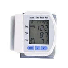 easy operate digital wrist blood pressure monitor health monitor Sphygmomanometer monitor de presion arterial