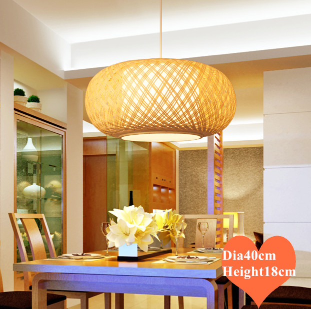 Chinese classical hand knitting Bamboo art small Chandelier Modern rural E27 LED lamp for porch&parlor&stairs&corridor LHDD055|Pendant Lights|Lights & Lighting - title=