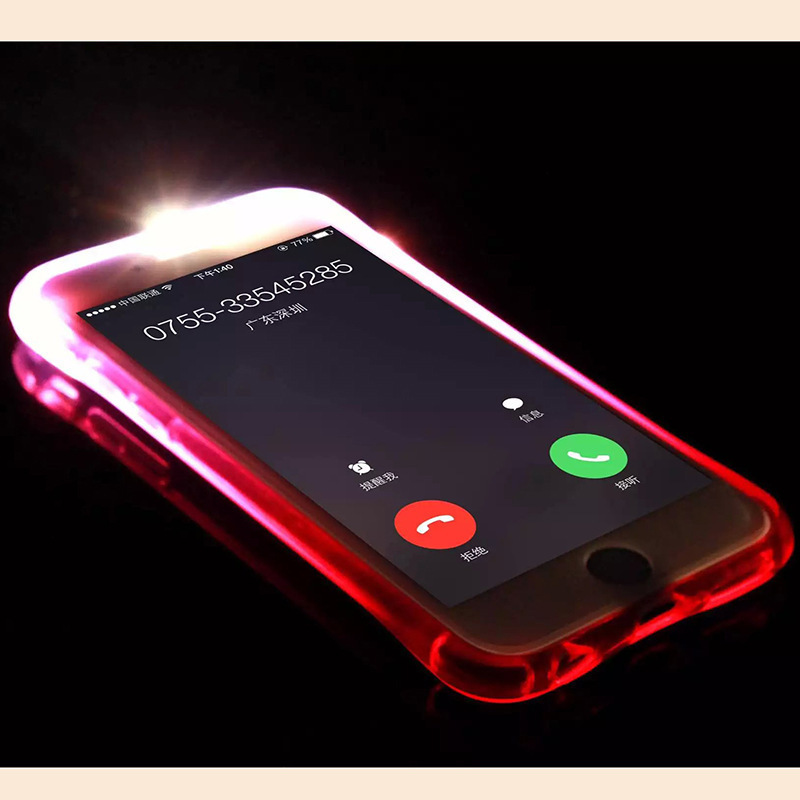 High Quality Case Called LED Flash Light Case For iPhone 6 6S Plus 5S SE Luminous Glitter Clear Case for iPhone 7 7Plus Cover