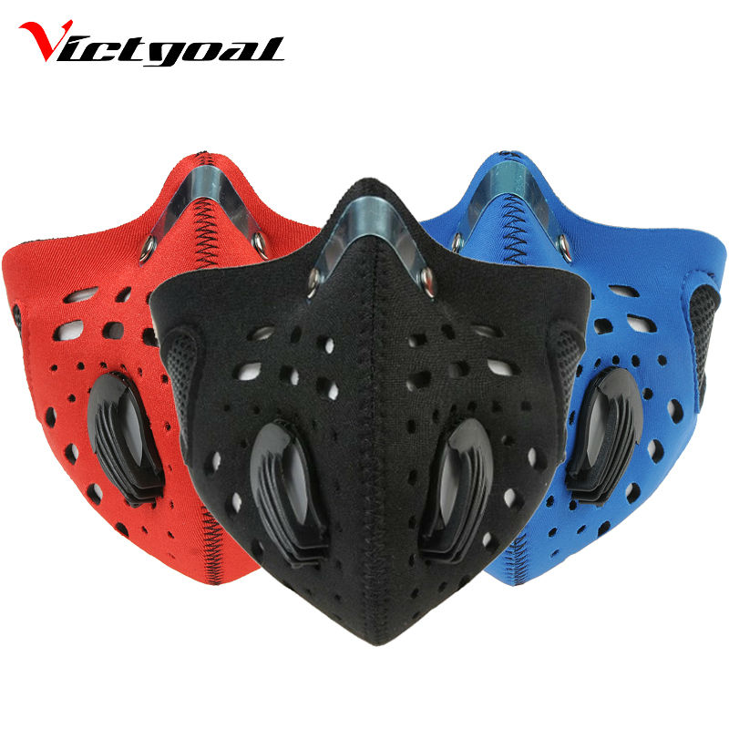 VICTGOAL Cycling Pollution Mask Men Women Anti-Dust Windproof Mask Mountain Bike Running Skiing Anti-Pollution Masks Face Cover