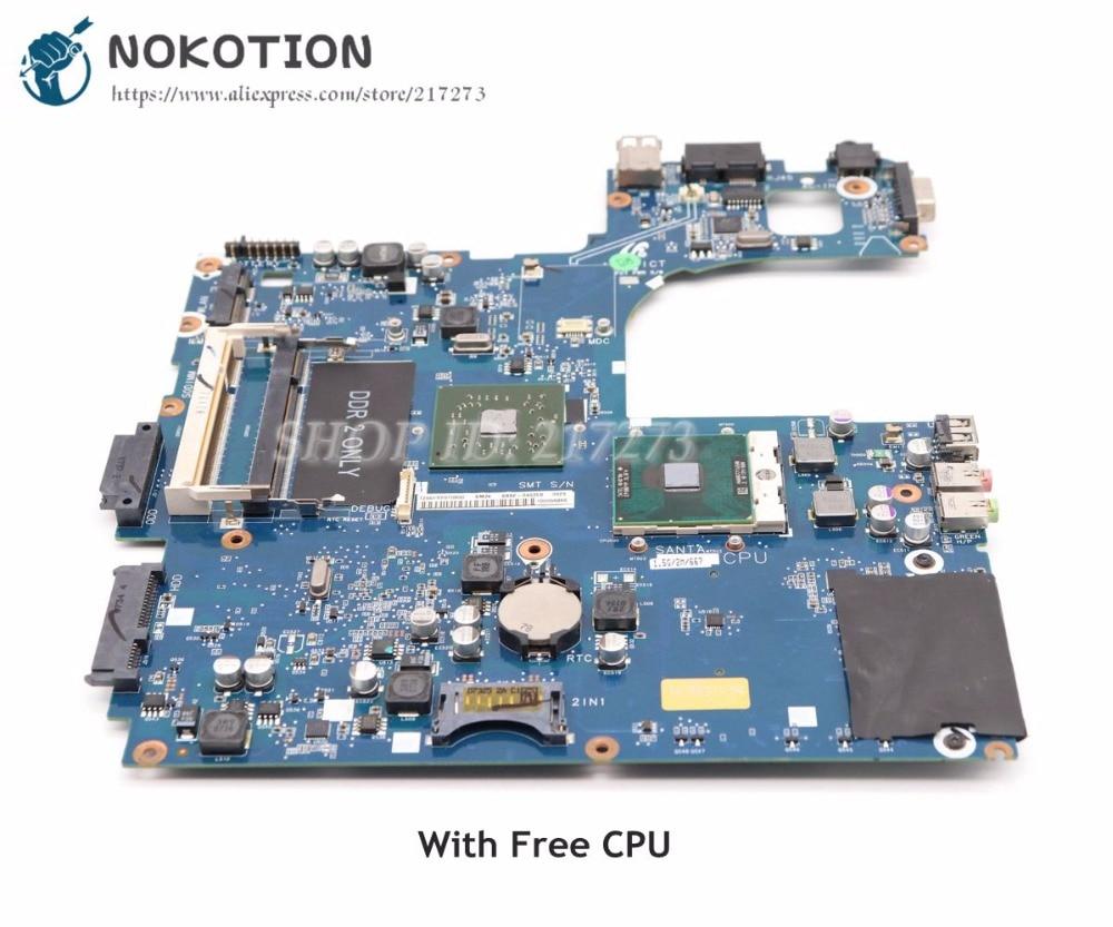 NOKOTION For Samsung R60 Laptop Motherboard Radeon X1200 BA92-05127B BA92-04635A BA92-04635B BA41-00792A BA41-00791A BA41-00811 nokotion for samsung r60 plus laptop motherboard np r60y ba92 04772a rs600me sb600 radeon xpress 1250 ddr2