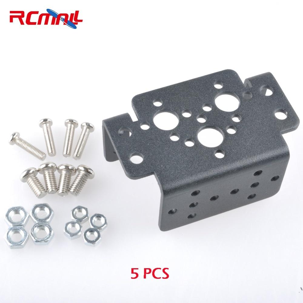 5PCS Aluminum Multifunction Servo Bracket for MG995 MG996R S3003 Servo Robot Arm